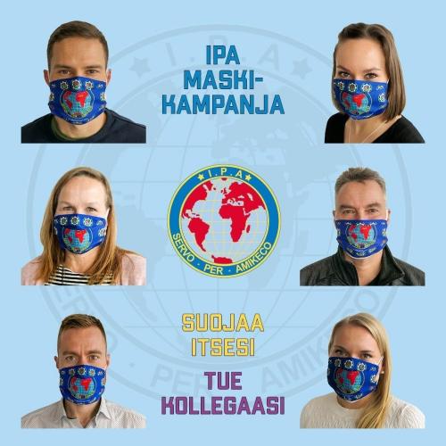 IPA maski-kampanja: ''Suojaa itsesi - tue kollegaasi''